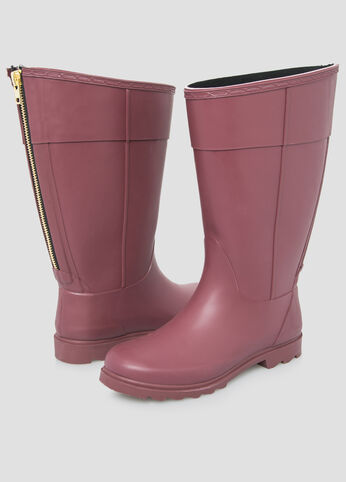 Zip Back Rain Boot - Wide Calf