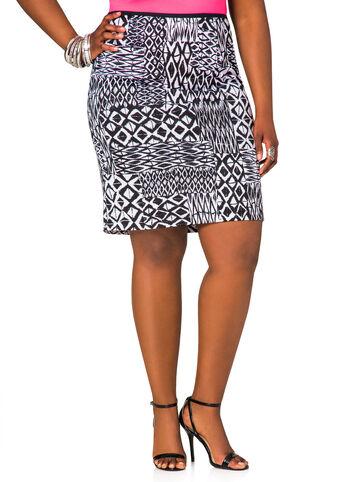 26 Inch Print Scuba Skirt