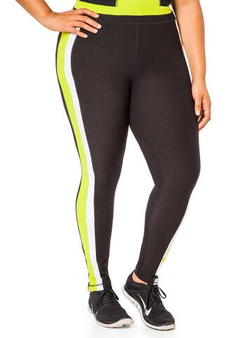 Lime Colorblock Sport Leggings