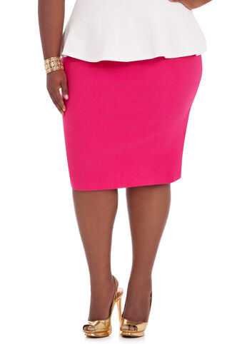 Pencil Skirt with Long Back Zipper