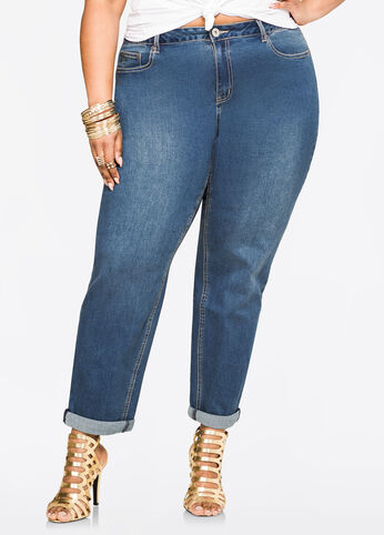 Average Vintage Cuff Straight Leg Jean