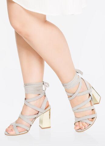 Mirrored Metallic Heel - Wide Width