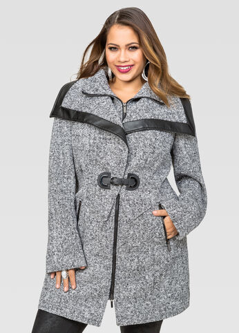Center Buckle Wool Coat