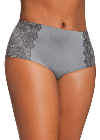 Seamless Hipster With Print Lace