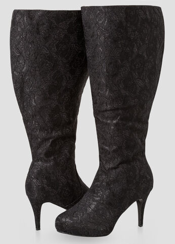 Glam Knee High Boots - Wide Width, Wide Calf