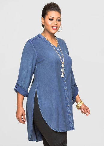 Denim Maxi Tunic