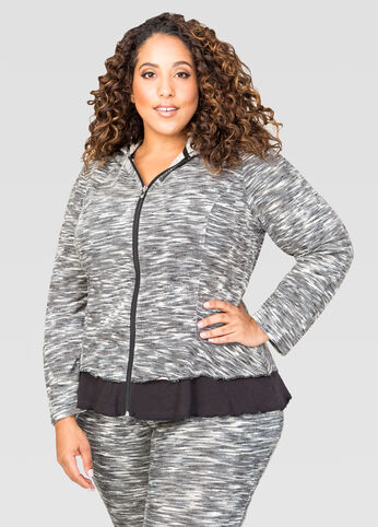Mélange French Terry Active Jacket 402009533969