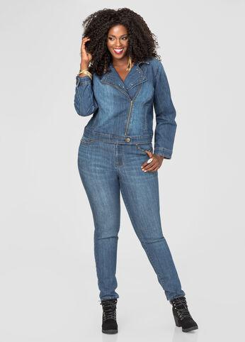 Stud Detail Skinny Jean