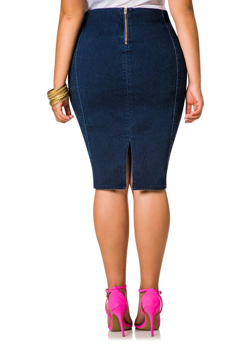 Back Zip Skirt 30