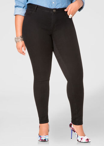 High Waisted Plus-Size Jeans | 5-Pocket Style | Ashley Stewart