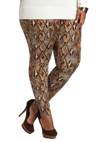 Snakeskin Print Legging