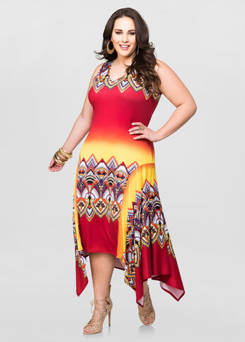 Tribal Hanky Hem Dress