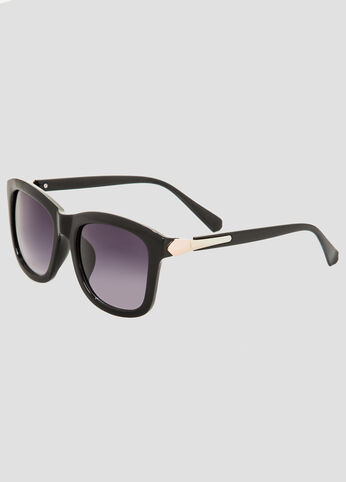 Gold Trim Large Square Sunglasses