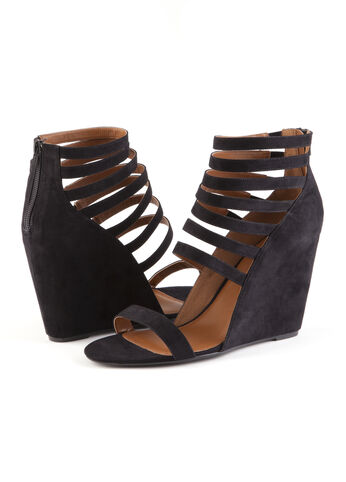 Strappy Suede Wedges