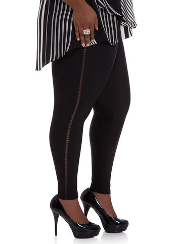 Lattice Trim Leggings