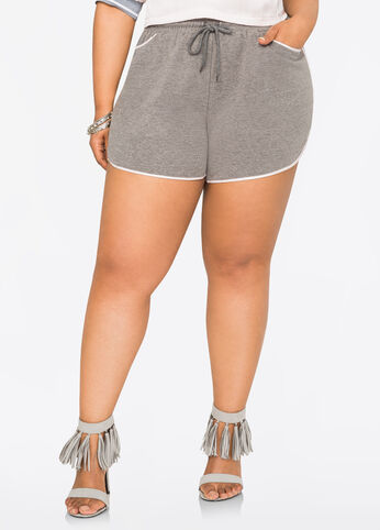 Contrast Trim Workout Shorts