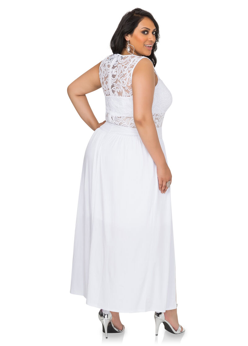 Special Occasion Makeup Artist: Double Split Special Occasion Dress-Plus Size Gowns-Ashley