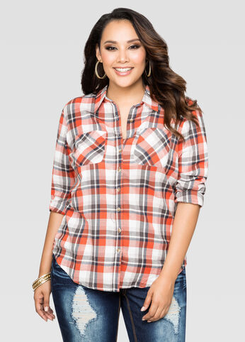 Plaid Two Pocket Shirt
