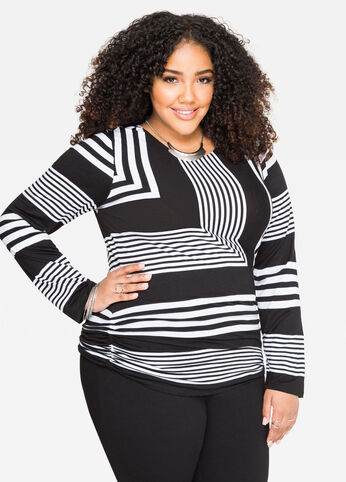 Bold Stripe Long Sleeve Top