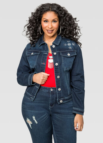 Jewel Yoke Jean Jacket