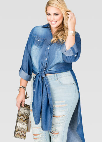 Sandblast Denim Duster