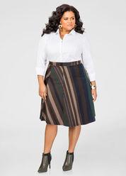 Striped Flare Skirt