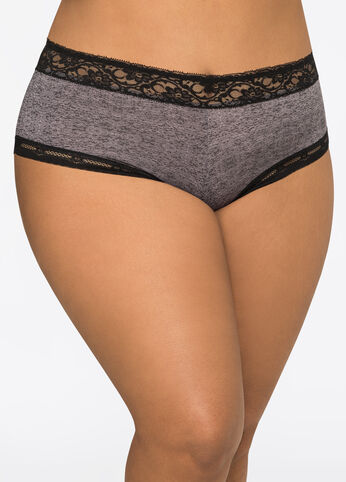Lace Trim Hipster Panty