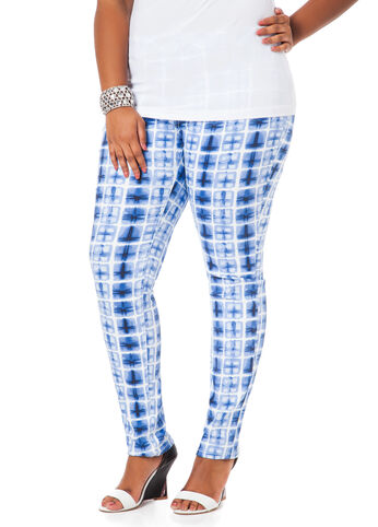 Geometric Print Skinny Jeans