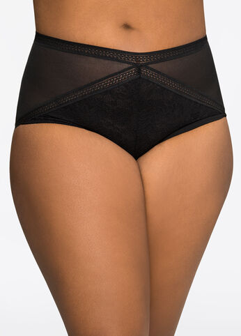 Lace And Mesh Boyleg Panty
