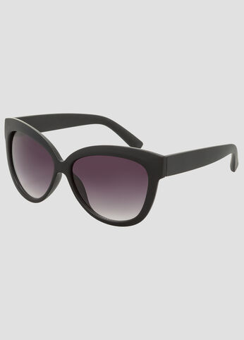 Plus Size Matte Butterfly Sunglasses Black
