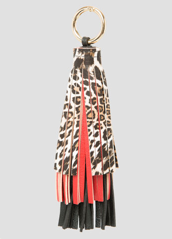 Triple Layer Fringe Handbag Charm