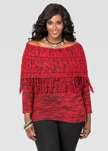 Marled Fringe Marilyn Sweater