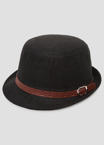 Buckle Band Felt Hat