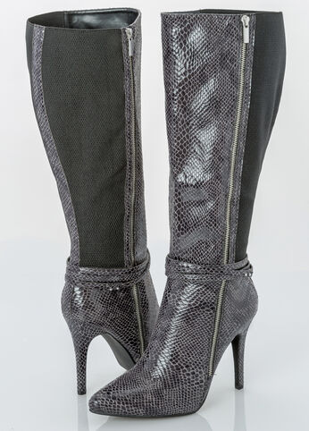 Sexy Side Zip Tall Boot - Wide Width Wide Calf