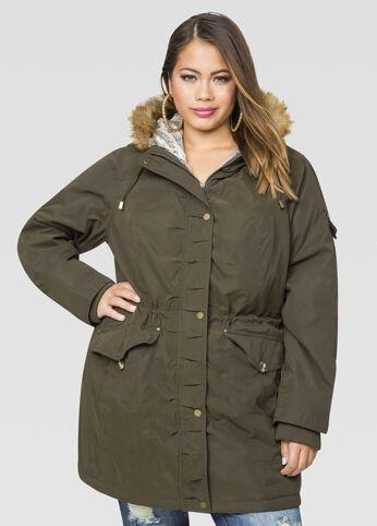 Sueded Anorak Coat