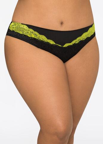 Contrast Lace Bikini Panty