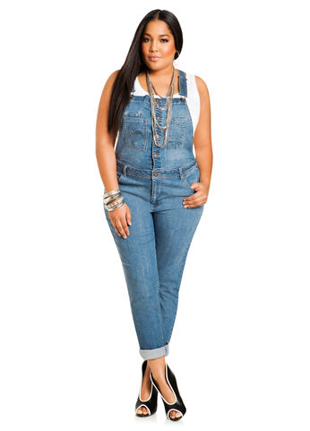 Skinny Overall Jeans