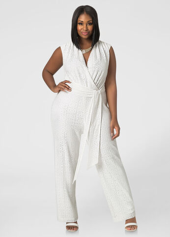 Lace Surplice Jumpsuit