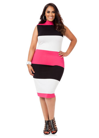 Bold Striped Jersey Dress