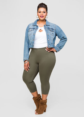 Compression Capri Pant plus size,  plus size fashion plus size appare