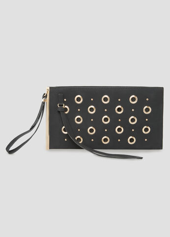 Grommet Bar Wristlet Clutch