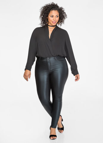 Surplice Blouse Bodysuit