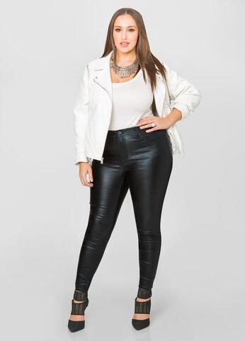 5-Pocket Metallic Skinny Jean