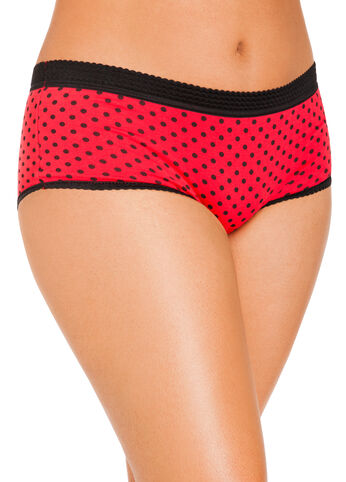 Polka Dot Cotton Full Coverage Briefs