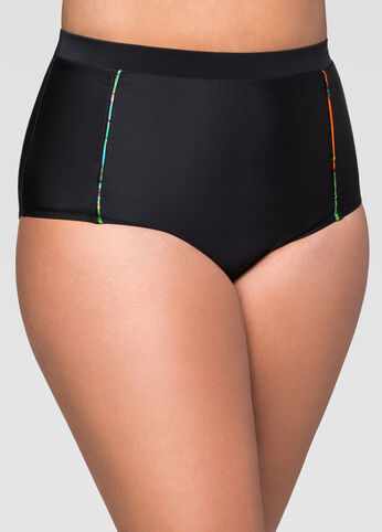 Palm High Waist Bikini Bottom