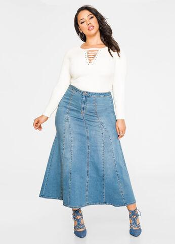 Godet Jean Maxi Skirt