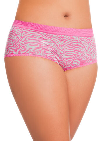 Pink Zebra Striped Panties