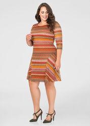 Crochet Overlay Flare Dress