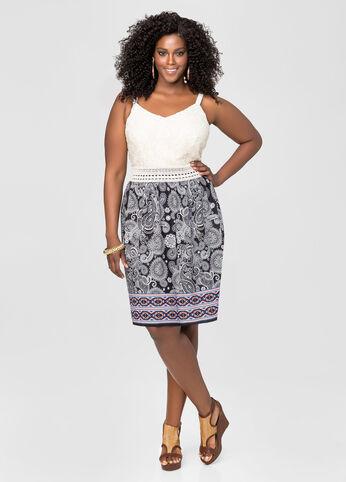 Crochet Lace Paisley Dress