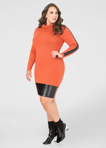 Cowl Neck Bodycon Sweater Dress